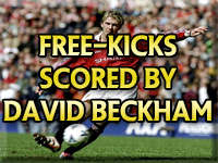 Manchester United Free-kicks scored by David Beckham