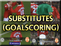 Manchester United Goalscoring Substitutes