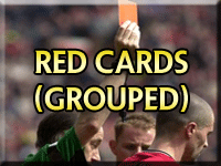 Manchester United Red Cards (Grouped)
