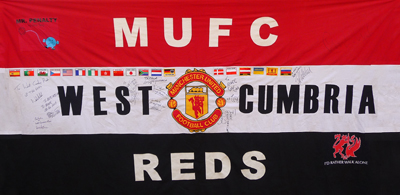 West Cumbria Reds Branch Flag.......as seen behind the Stretford End @ all Home games
